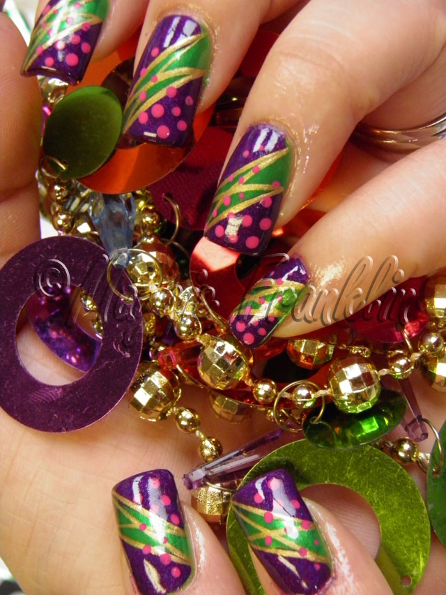 Mardi Gras Nail Art | Nails Done Right