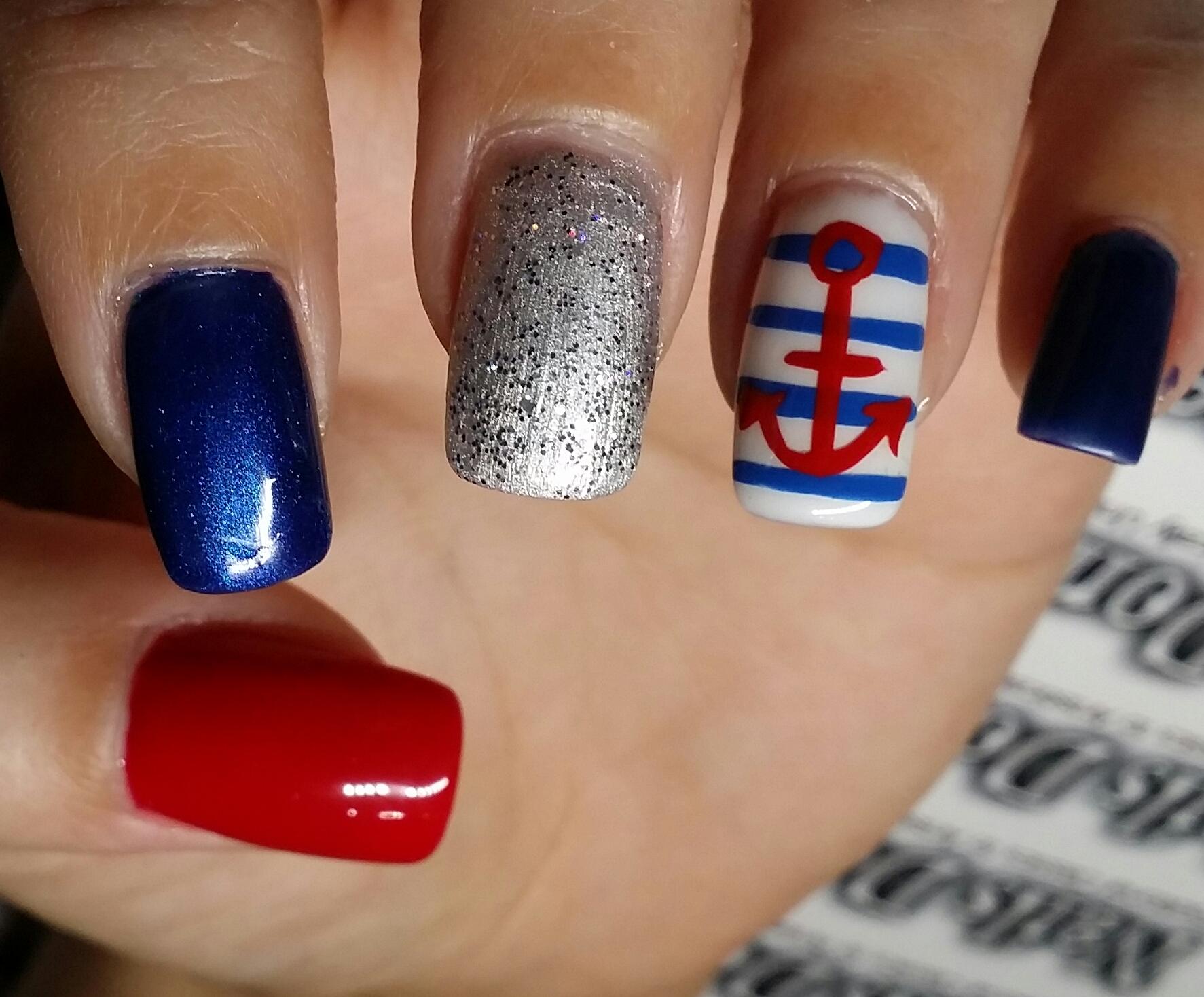 nautical nails   Nails Done Right