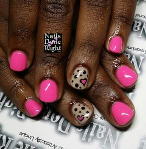 Gel Manicure with cute nail art